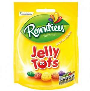 Rowntrees jelly tots and fruit pastilles 150g sharing bag just 10p rrp £1 @ poundstretcher
