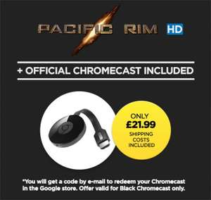 Google Chromecast + Pacific Rim HD £21.99 @ Wuaki
