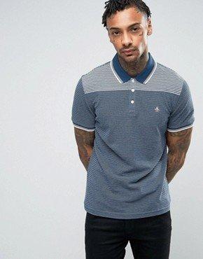 Original Penguin Jacquard Slim Fit Polo Shirt 60% OFF @ Asos.com for £22