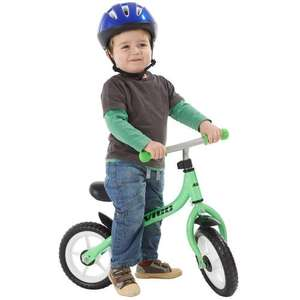 "10"" Balance bike green and red at Toys R Us for £26.99"