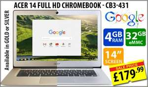 "ACER CB3-431 14"" Full HD Chromebook (ex-Display) £179.99 at svp.co.uk"