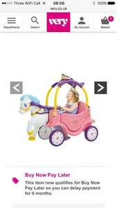 Little Tikes Princess Carriage £60.99 Del using new customer code @ Very