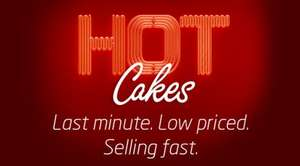 Virgin Trains EAST COAST Hot Cakes deal book by midnight 13th April and travel Sat 15/Sun 16 April, Leeds to London £5, Newcastle to London £10, others too