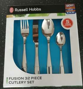 Russell Hobbs Fusion 32 piece cutlery set £7.50 @ b&m in store