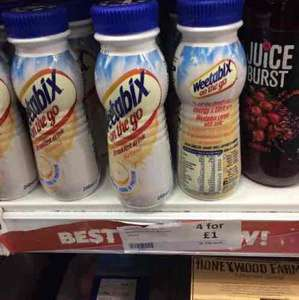 weetabix on the go breakfast drink 29p each or 4 for £1 Heron in store