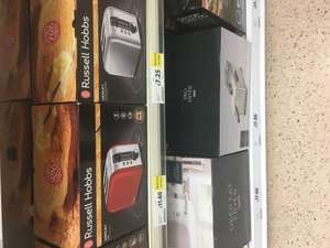 Russell hobbs henley 2 slice toaster - silver stainless steel (£7.25) red (11.60) tesco instore