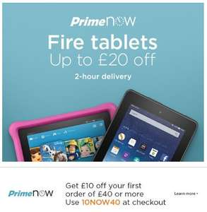 "Amazon Fire Tablets up to £20 off - Prime Now - Fire 7"" 16GB Black/Red/Blue Wi-Fi £34.99 Kids Edition 69.99 - With code"