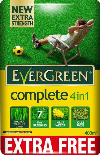EverGreen Complete 4-in-1 Lawn Care Bag, 12.6 kg Plus 10% Free= 400m2 £15 (Prime) £19.75 (Non Prime) @ Amazon