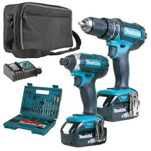 Makita 2SETRJ Makita 18v Li-ion 3.0Ah 2 Piece Kit £199.99 - ITS