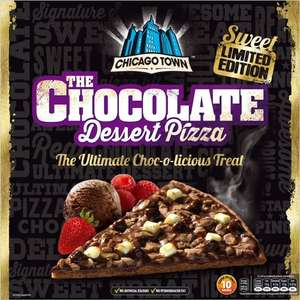 Chicago Town Sweet Limited Edition The Chocolate Dessert Pizza (260g) was £2.00 now £1.50 @ Iceland & Tesco