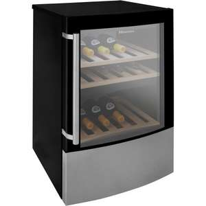 Hisense SC108DY Wine Cooler Black/Steel inc Free Delivery £179.10 @ The Gas Superstore