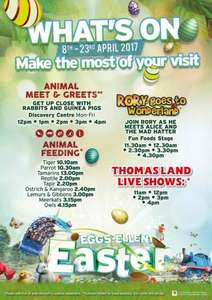 DRAYTON MANOR EGGS-ELLENT EASTER 4 PEOPLE FOR £80 - INCLUDES FREE EASTER EGG HUNT