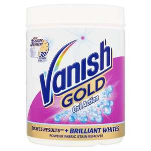 Vanish Gold Oxi Stain Remover 940g + Vanish White Gold Stain Remover 940g £4.50 each reduced from £10 @ Wilko C+C
