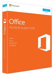 Microsoft Office Home and Student 2016 for PC (69.99) & Mac (86.99) @ Amazon
