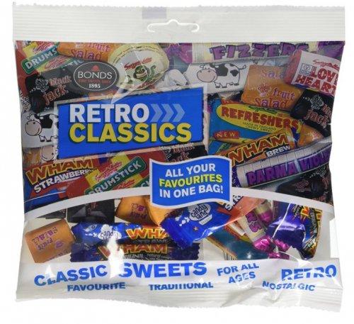 Bonds Retro Classics Bag 150 g (Pack of 12) ADD ON ITEM MINIMUM 20 POUND SPEND 4 max per customer