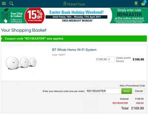 BT whole home WIFI at Robert Dyas for £169.99