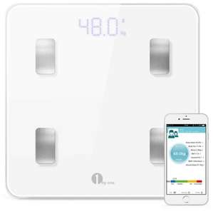 1byone Bluetooth Body Fat Monitor and Body Analyser Scale Electronic Bathroom Scale with App to Manage Weight, BMI, Body Fat, Water, Muscle Mass, BMR, Bone, Visceral Fat - £23.99 @ Amazon (Lightning Deal)
