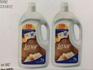 2 X 3.8 (190 wash each) Lenor gold orchid fabric conditional @ Costco - £12