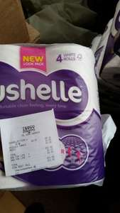 Cushelle 4 pack  toilet rolls reduced to clear (Yellow Sticker) - 57p instore @ Tesco