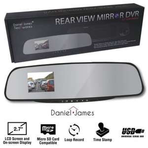 Rear View Mirror with DVR Camera £9.99 @ Weeklydeals4less
