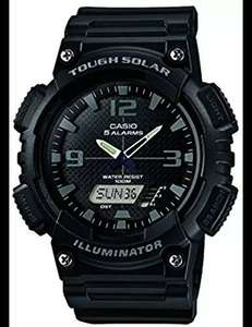 Casio Men's tough solar illuminator Quartz Watch with Black Dial Analogue Digital Display and Black Resin Strap £22 @ Amazon