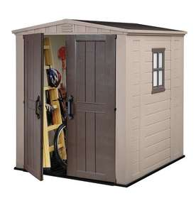 Keter Factor Outdoor Plastic Garden Storage Shed, 6 x 6 feet - Beige - Amazon - £314.40 delivered