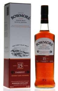 Bowmore Darkest 15 - £39.00 Amazon Prime - usually around £52