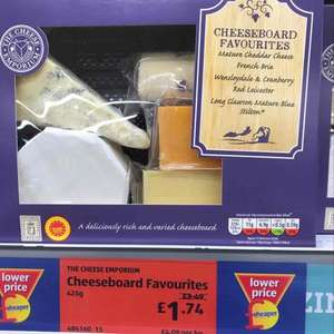 Cheeseboard favourites @ Aldi now reduced to £1.74