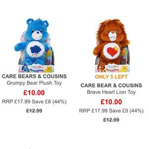 care bear : Grumpy / Brave heart £10 free delivery @ TKmaxx
