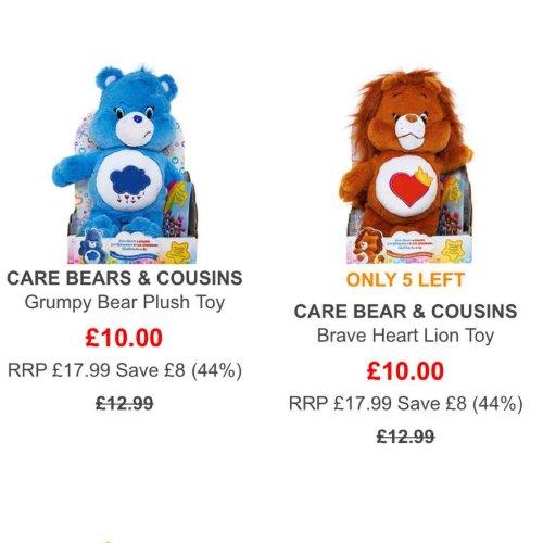 care bear : Grumpy / Brave heart £10 free delivery @ TKmaxx