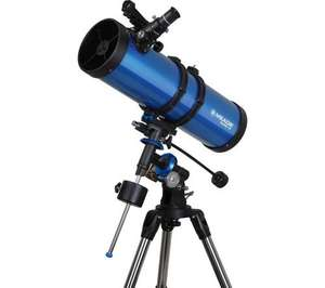 MEADE Polaris 130MD EQ Reflector Telescope - Blueonly £93.97 Save £55.03 @ Currys