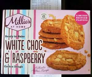 Millie's White Choc & Raspberry Cookies  £1.50 @ Iceland
