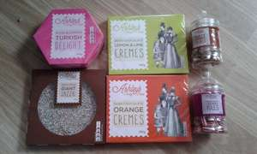 50p poundland  ashleys treats chocolate sweets sales  xmas stock