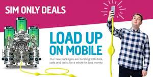 plusnet mobile 1000min unlimited text 2gb data £7.50 1month contract