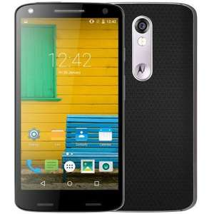 Motorola MOTO X ( 1581 ) 4G Smartphone  -  BLACK 2028594015.4 inch 2K QHD AMOLED Shatter Shield Screen Android 5.1 Snapdragon 810 Octa Core 2.0GHz 3GB RAM 64GB ROM 21.0MP Rear Camera Water-repellent Coating £228.38 @ GearBest