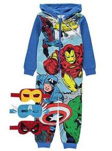 Marvel Comics Hooded Onesie with 3 Masks £8 @ Asda