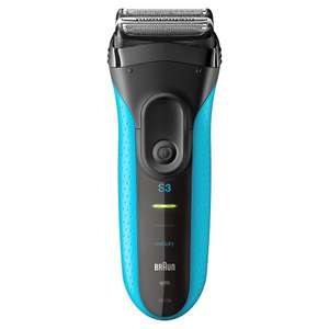 Braun Series 3 ProSkin 3010s Rechargeable Cordless Wet and Dry Electric Shaver/Razor for Men - Blue £37.99 @ Amazon