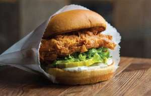 Free Shake Shack chicken burger for first 50 people on 25 April at 5 London branches and 4 May in Cardiff