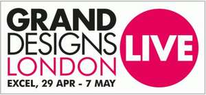 Grand Designs Live London Free Week Day Tickets Tues 2nd May to Fri 5th May