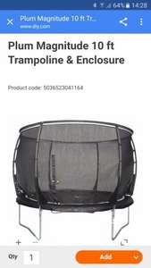 Plum 10ft magnitude trampoline under £84 delivered! @ B&Q