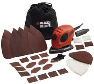 Black & Decker 55W Mouse Sander with Accessory Kit @ Robert Dyas £20.94 delivered with code RD15EASTER