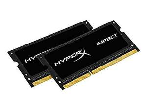 HyperX Impact 16 GB (2 x 8 GB)1600 MHz DDR3L CL9 SODIMM Notebook Memory Kit - £77.92 @ Amazon