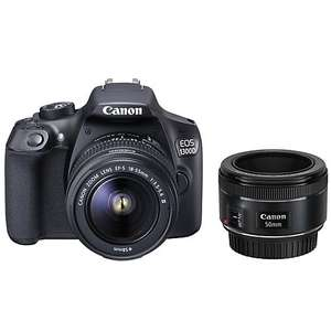 Canon EOS 1300D DSLR Camera with EF 18-55mm III Lens & EF 50mm f/1.8 Lens £329 @ John Lewis