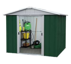 Yardmaster 8 x 6 Metal Apex Shed, @ Argos, 50% discount now £199.99 + £6.95 delivery £206.94