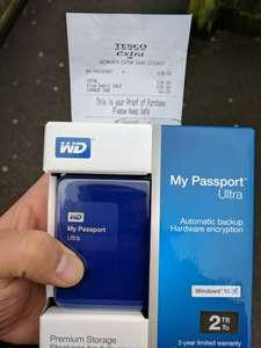 WD Passport Ultra 2TB £39 hard drive @ Tesco in Bedworth.