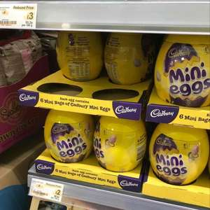 Cadbury mini egg EGG with 6 mini egg bags @ Asda reduced to £2 instore + More
