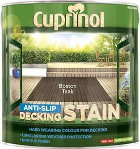 CUPRINOL ANTI SLIP DECKING STAIN 2.5ltr  2 for £30 Screwfix