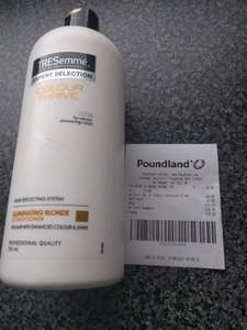 TRESemme expert selection illuminating blonde conditioner (750m) £1 poundland