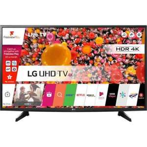"LG 43UH610V 43"" Freeview HD and Freesat HD and Freeview Play Smart 4K Ultra HD with HDR TV - Black £339 w/ code @ AO"