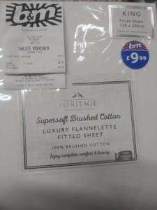 King size fitted sheet £4.99 100% cotton @ B&M - Willesden